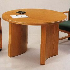 "<strong>Lesro</strong> Contemporary Series 42""  Round Gathering Table (Curved Panel Base)"