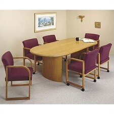 Contemporary Series Oval Conference Table (Curved Panel Base)