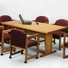 <strong>Lesro</strong> 69Contemporary Series Rectangular Conference Table (Trestle Base)