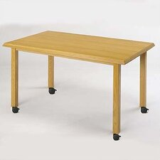 Contemporary Series Rectangular Gathering Table (4 Post Base with Casters)