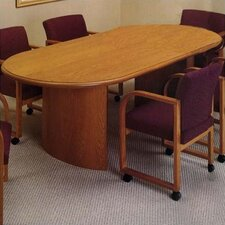 "<strong>Lesro</strong> Contemporary Series 96""  Oval Conference Table (curved panel base)"