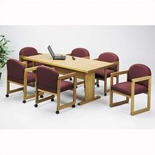 "Contemporary Series 96"" Rectangular Conference Table with Radius Profile (Trestle Base)"