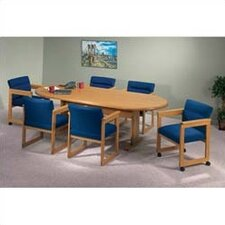"<strong>Lesro</strong> Contemporary Series 96"" Oval Conference Table (Trestle Base)"