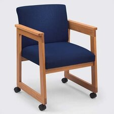 <strong>Lesro</strong> Classic Tapered Guest Arm Chair with Sled Base