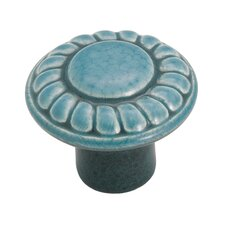 "Color Washed Ceramic 2"" Round Knob"
