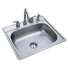 "25"" x 22"" 4 Hole Kitchen Sink"