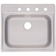 "27.75"" x 24.5"" x 9.5"" 4 Hole Kitchen Sink"