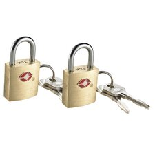 Small Brass Travel Sentry Padlock (2 Count)