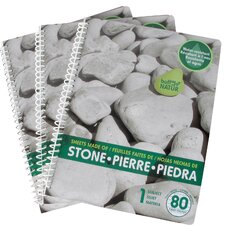 "8"" x 10.5"" 1 Subject Stone Notepaper Pad"