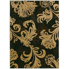 <strong>Tommy Bahama Rugs</strong> Home Nylon Bahama Black Bloom Rug