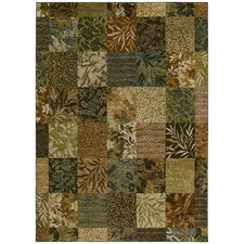 <strong>Tommy Bahama Rugs</strong> Home Nylon Light Multi-Colored Leaf Batik Rug