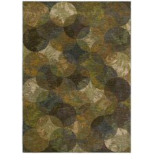 Home Nylon Calypso Night Light Multi-Colored Rug