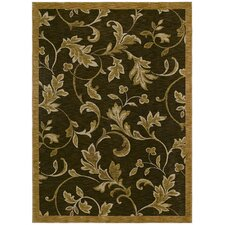 <strong>Tommy Bahama Rugs</strong> Home Nylon Garden Gate Dark Brown Rug