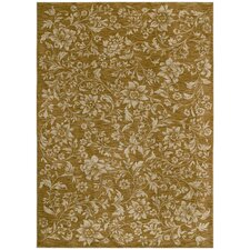 Home Nylon Gold Island Flower Rug