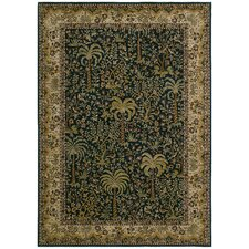 <strong>Tommy Bahama Rugs</strong> Home Nylon Navy/Tan Monaco Palms Rug