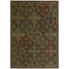 Home Nylon Multi-Colored Moroccan Mosaic Rug