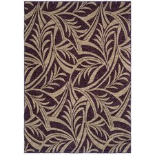 Home Nylon Abstracted Cranberry Leaf Rug