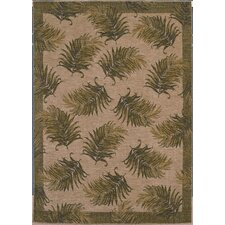 Home Nylon Tahitian Breeze White/Green Novelty Rug