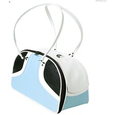 Roxy Pet Carrier in Turquoise and White