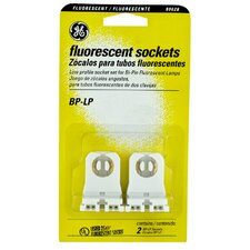 Low Profile Fluorescent Socket (Set of 2)