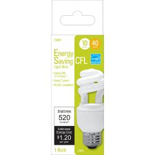 Soft White Spiral Compact Fluorescent Light Bulb