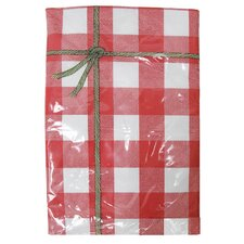 "<strong>J and M Home Fashions</strong> 60"" Red Check Vinyl Table Cloth"
