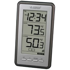 <strong>Lacrosse Technology</strong> Wireless LCD Thermometer Wall Clock