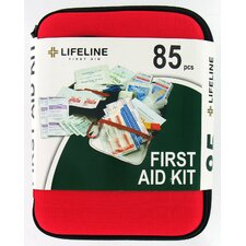 <strong>Lifeline First Aid</strong> 85 Piece Large Hard Shell First Aid Kit