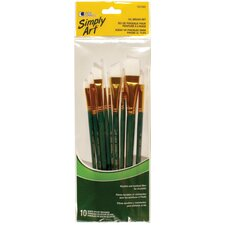 10 Piece Oil Brush Set