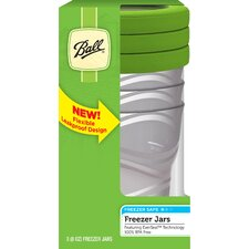 8 Oz Plastic Freezer Jar (Set of 3)