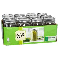 1 Qt. Wide Mouth Can or Freeze Canning Jar (Set of 12)