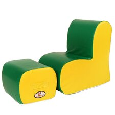 Cloud Kids Chair and Ottoman Set