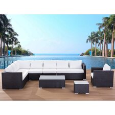 <strong>Beliani</strong> XXL Sectional 7 Piece Lounge Seating Group with Cushion