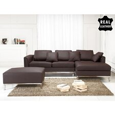 <strong>Beliani</strong> Oslo 3 Piece Leather Living Room Set