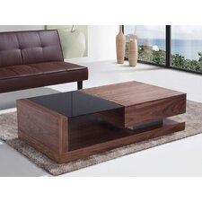 Porto Contemporary Coffee Table with Glass Top