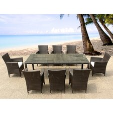 Italy 220 9 Piece Dining Set