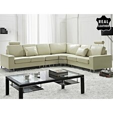 Stockholm Leather Stationary Sectional