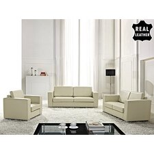<strong>Beliani</strong> Helsinki European 3 Piece Leather Living Room Set