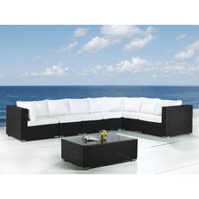 <strong>Beliani</strong> Grande 8 Piece Lounge Seating Group with Cushion