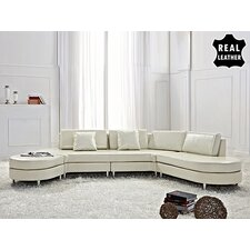 Copenhagen Leather Stationary Sectional