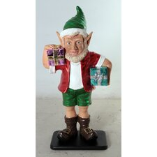 <strong>Queens of Christmas</strong> Elf Figurine with 2 Gift Package