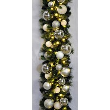 9' Pre-Lit Blended Pine Decorated Garland