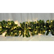 Pre-Lit Incandescent Clear Blended Pine Garland
