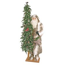 Starry Trails Santa Claus Figurine