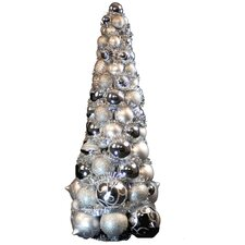 2' Silver Ornament Tree
