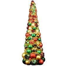 3' Multi-Colored Ornament Tree