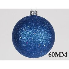 <strong>Queens of Christmas</strong> Glitter Ball Ornament with Wire (Set of 12)