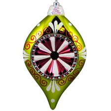 <strong>Queens of Christmas</strong> Decorated Reflector Hanging Finial Ornament