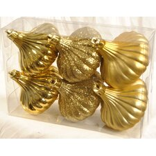 <strong>Queens of Christmas</strong> Ridged Onion Ornament (Set of 6)