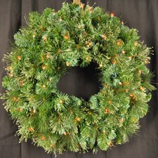 <strong>Queens of Christmas</strong> Pre-Lit LED Blended Pine Wreath